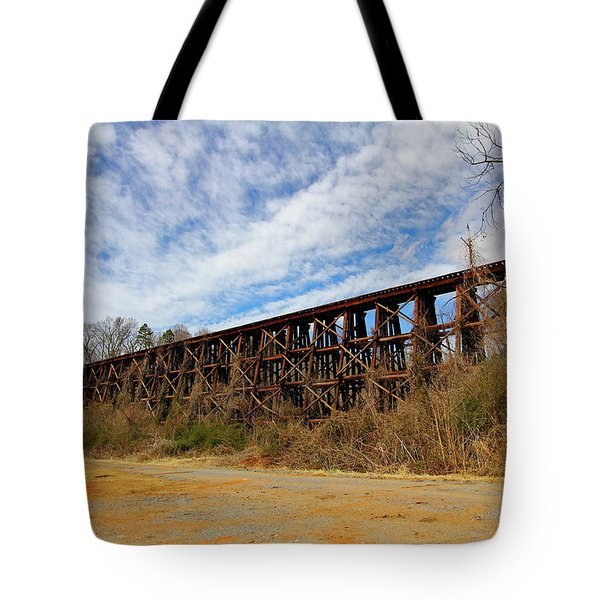Tote Bag featuring the photograph Old Wooden Bridge 10 Color by Joseph C Hinson Photography