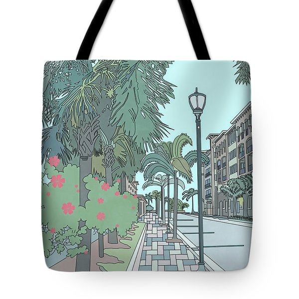 Orange Avenue Tote Bag