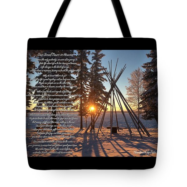 Our Small Town In Heaven Tote Bag