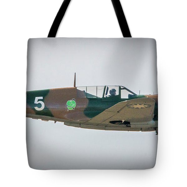 Tote Bag featuring the photograph P-40 Warhawk by Tom Claud