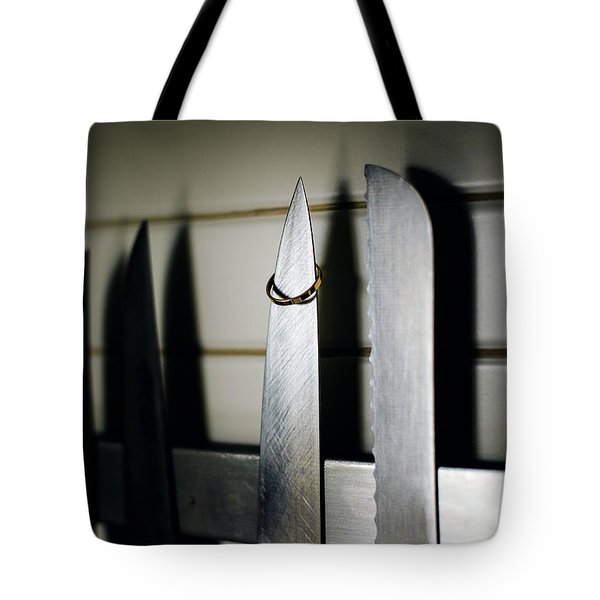 Pair Of Elegant Wedding Rings Tote Bag
