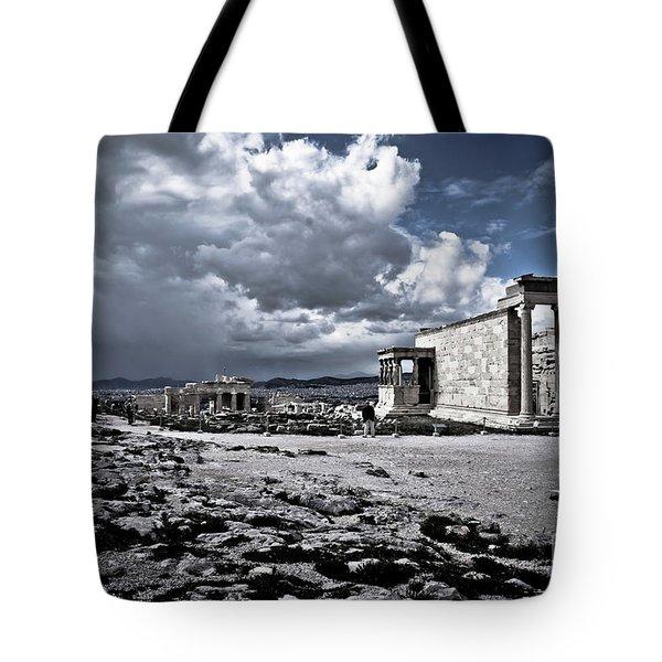 Panorama Of Athens, Greece Tote Bag