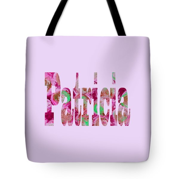 Tote Bag featuring the digital art Patricia by Corinne Carroll