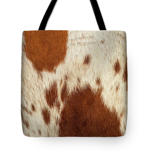 Tote Bag featuring the photograph Pattern Of A Longhorn Bull Cowhide. by Rob D Imagery
