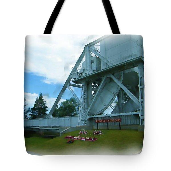 Pegasus Bridge Tote Bag