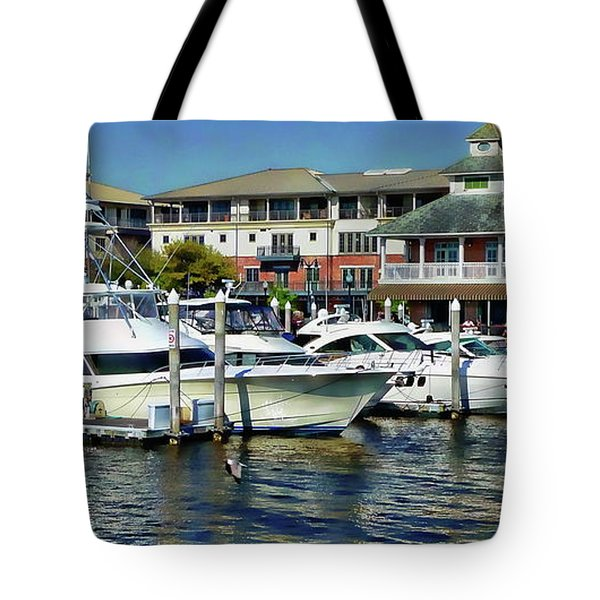 Tote Bag featuring the photograph Pensacola Pier by Anthony Dezenzio