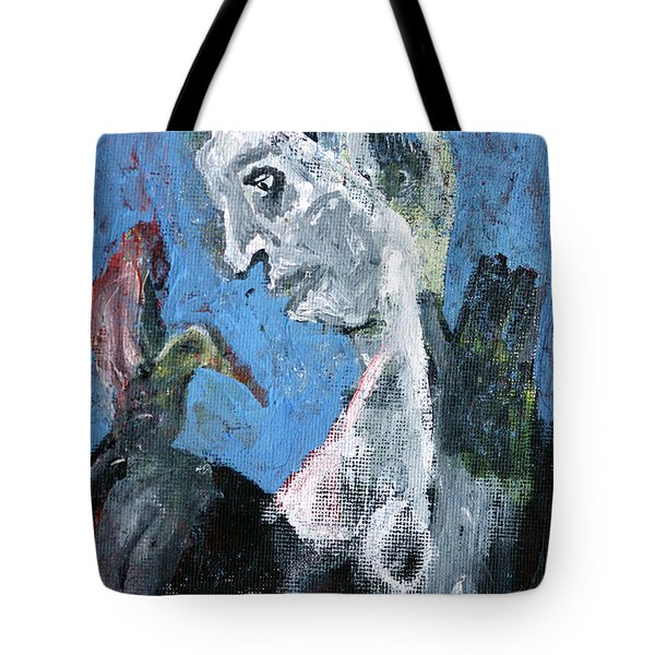 Portrait With A Bird Tote Bag