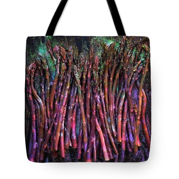 Purple Asparagus Tote Bag