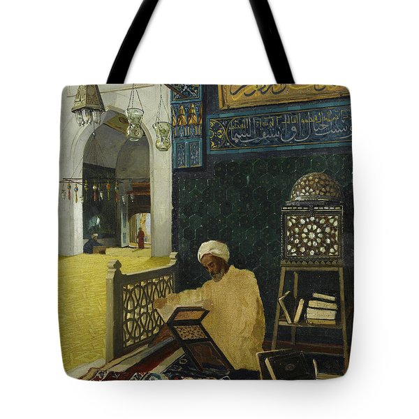 Reciting The Quran Tote Bag