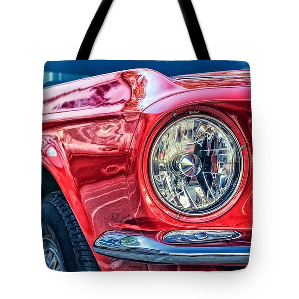 Tote Bag featuring the photograph Red Vintage Car by Top Wallpapers