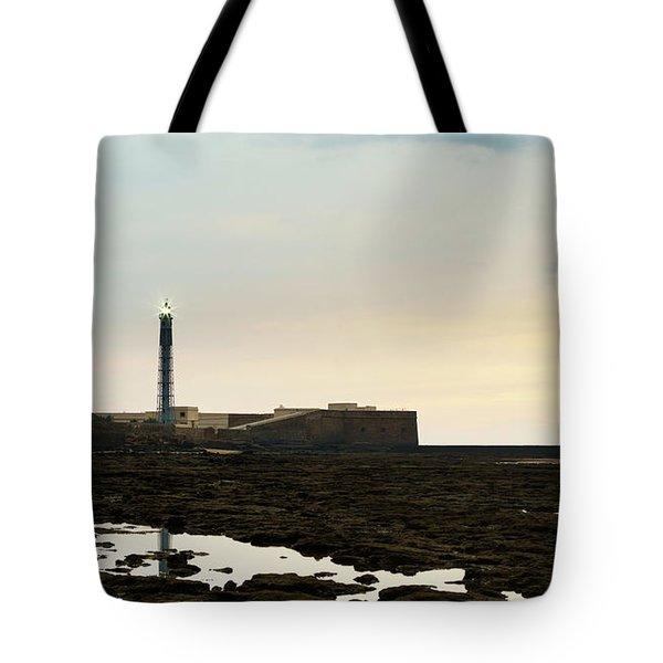 Tote Bag featuring the photograph Saint Sebastian Lighthouse Cadiz Spain by Pablo Avanzini