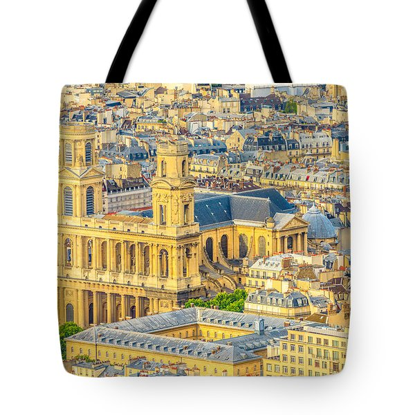 Tote Bag featuring the photograph Saint Sulpice Church Paris by Benny Marty