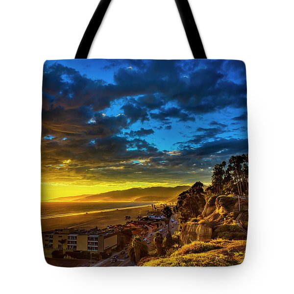 Santa Monica Bay Sunset - 10.1.18 # 1 Tote Bag