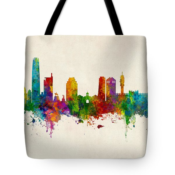 Santiago De Chile Skyline Tote Bag