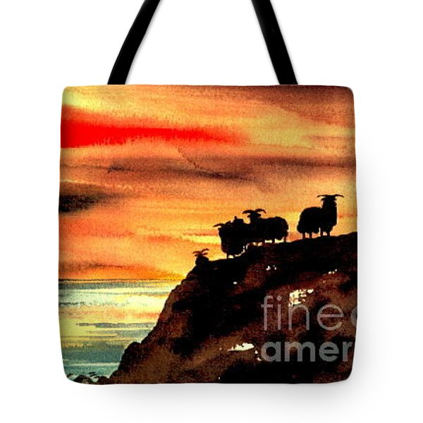 Tote Bag featuring the painting Sceilig Micil From Teraught, Kerry by Val Byrne