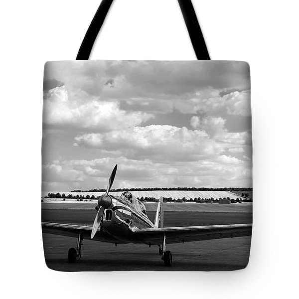 Silver Airplane Duxford England Tote Bag