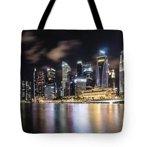 Singapore By Night Tote Bag