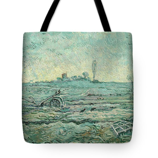 Snow-covered Field With A Harrow, After Millet Tote Bag