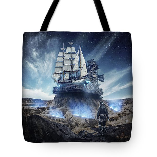 Spaceship Tote Bag