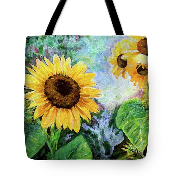 Tote Bag featuring the painting Sunflowers by Michele A Loftus