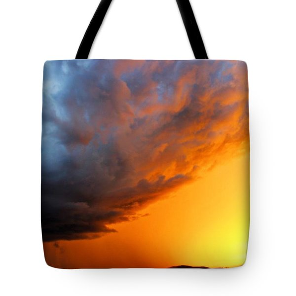Sunset Storm Tote Bag