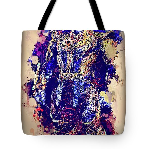 Tote Bag featuring the mixed media Thanos Watercolor by Al Matra
