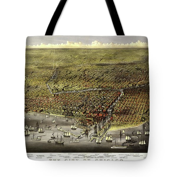 The City Of Chicago, 1868 Tote Bag