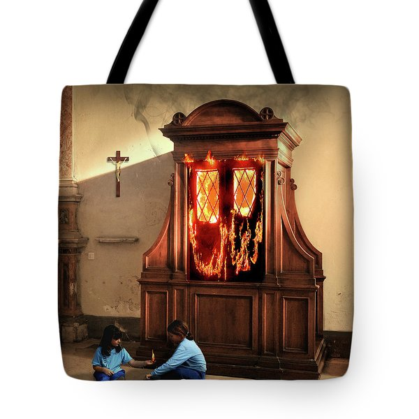 The Confessional Tote Bag
