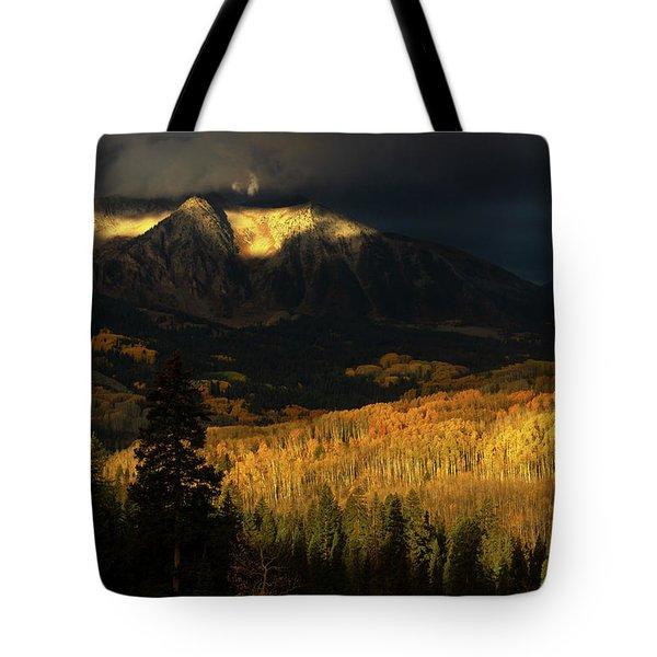 The Golden Light Tote Bag