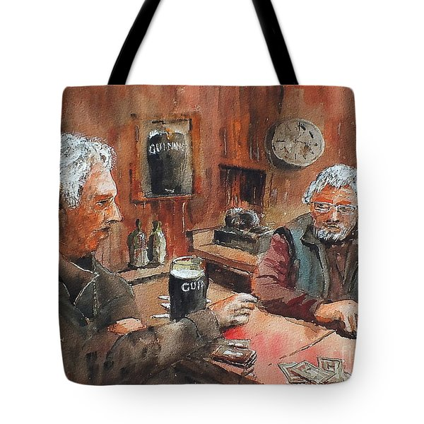 Tote Bag featuring the painting The Knave Wins by Val Byrne
