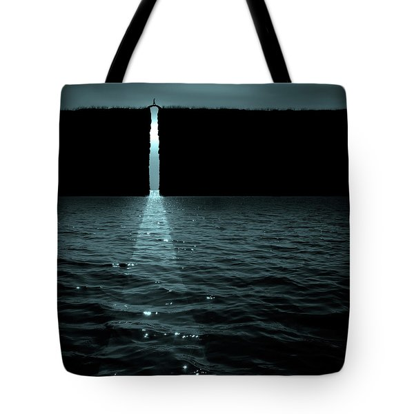 The Moon Pours In Tote Bag
