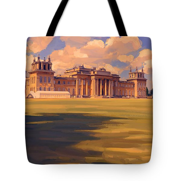 The White Party Tent Along Blenheim Palace Tote Bag