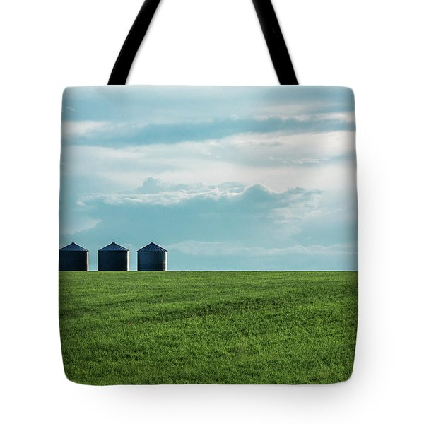 Three Grain Bins Tote Bag