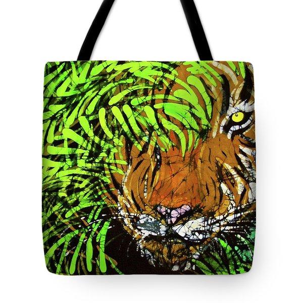 Tiger In Bamboo Tote Bag