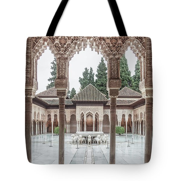 Time Temple Tote Bag