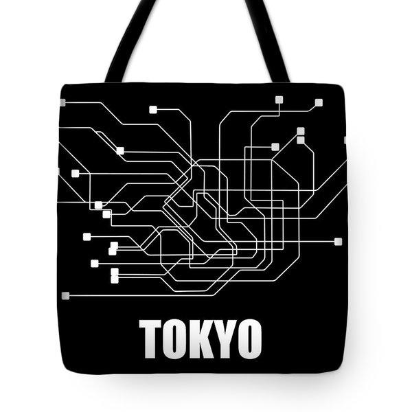 Tokyo Black Subway Map Tote Bag