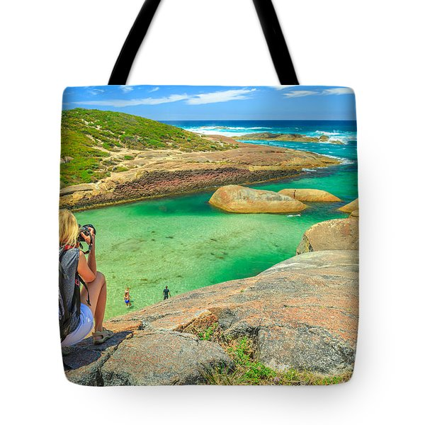 Tote Bag featuring the photograph Travel Photographer In Australia by Benny Marty