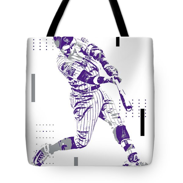 Trevor Story Colorado Rockies Pixel Art 10 Tote Bag