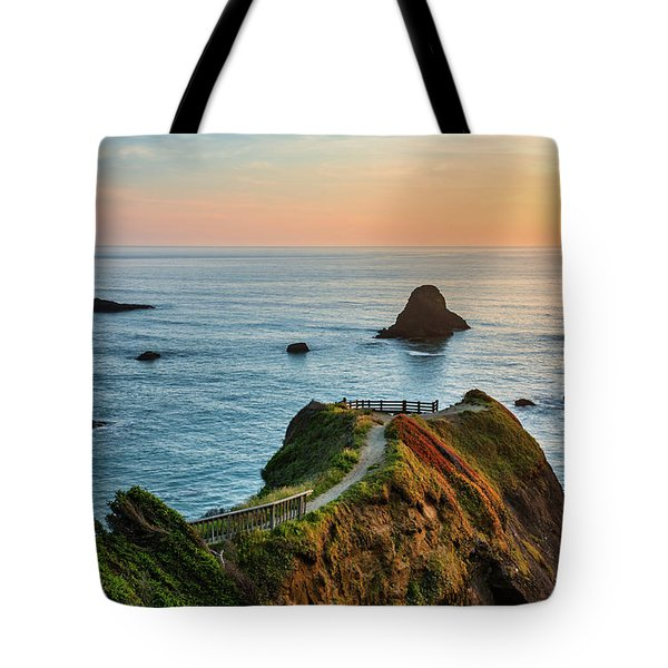 Tote Bag featuring the photograph Trinidad Ocean Viewpoint by Leland D Howard