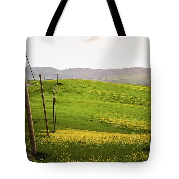 Tuscan Landscapes. Hills In The Spring Tote Bag
