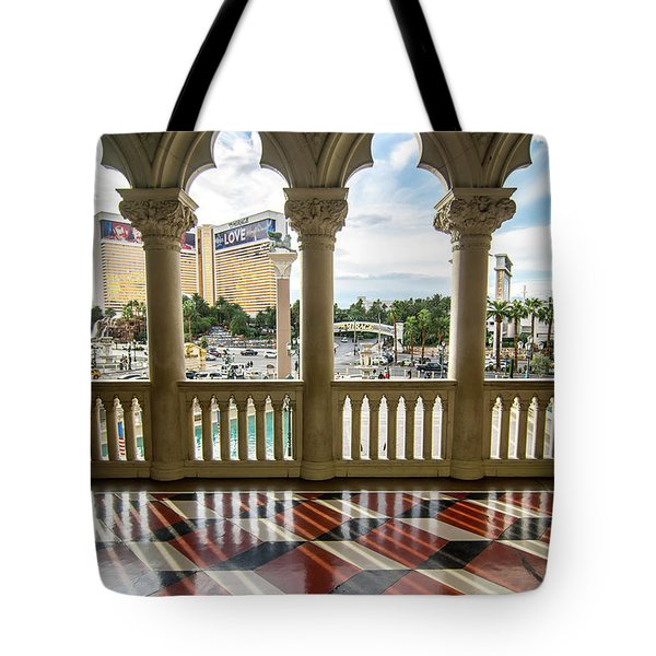 Tote Bag featuring the photograph Views Of Las Vegas Nevada Strip In November by Alex Grichenko