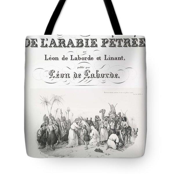 Voyage De L Arabie Petree Par Leon De Laborde Et Linant Tote Bag