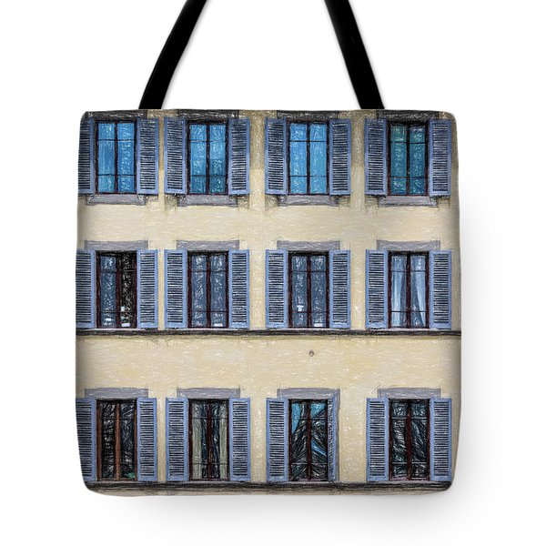 Tote Bag featuring the photograph Wall Of Windows II by David Letts