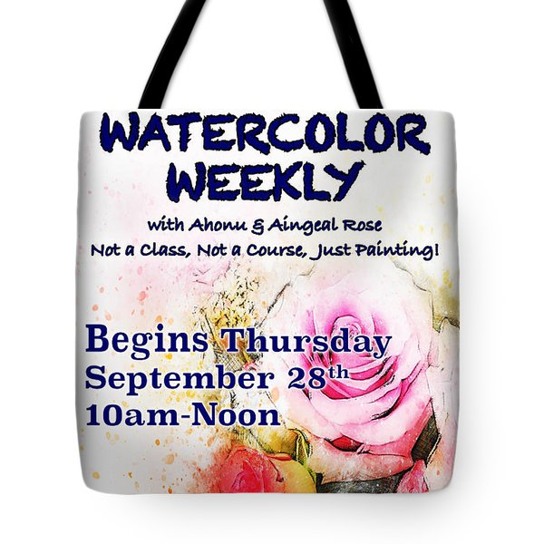 Watercolor Weekly Tote Bag
