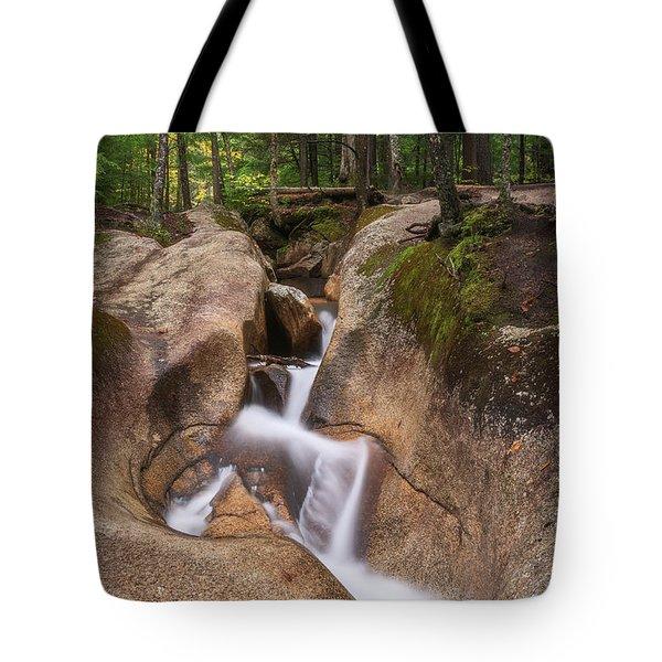 Tote Bag featuring the photograph Waterfall At The Basin by Sharon Seaward