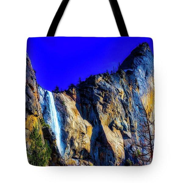 Winter Bridalveil Falls Tote Bag