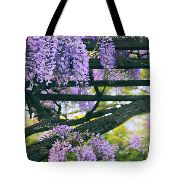 Wisteria In Bloom Tote Bag