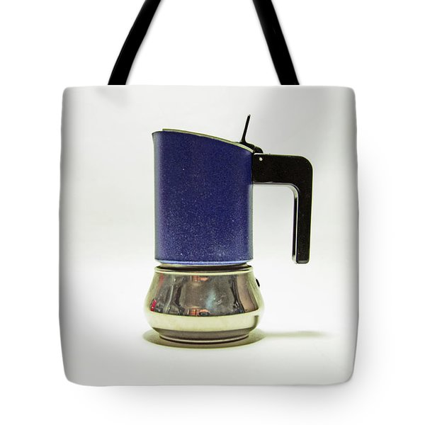 10-05-19 Studio. Blue Cafetiere Tote Bag