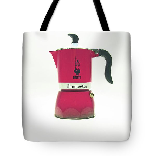 10-05-19 Studio. Red Cafetiere. Tote Bag