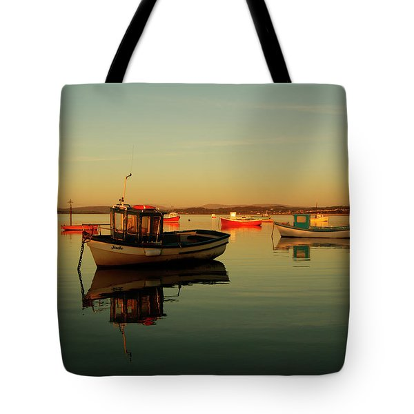 10/11/13 Morecambe. Boats On The Bay. Tote Bag